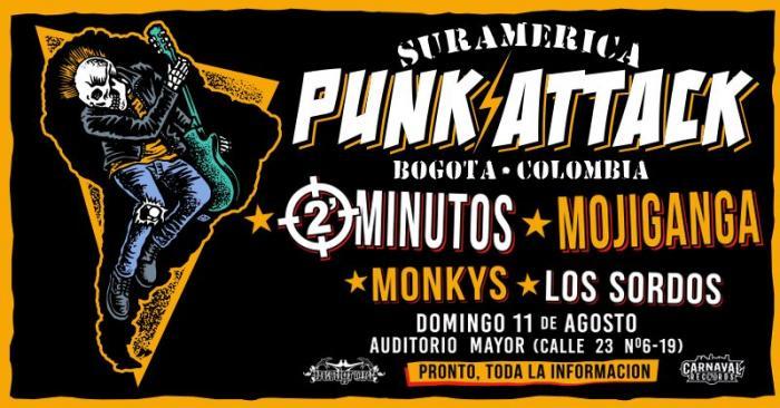 Festival Suramérica Punk Attack en Bogotá el próximo 11 de agosto