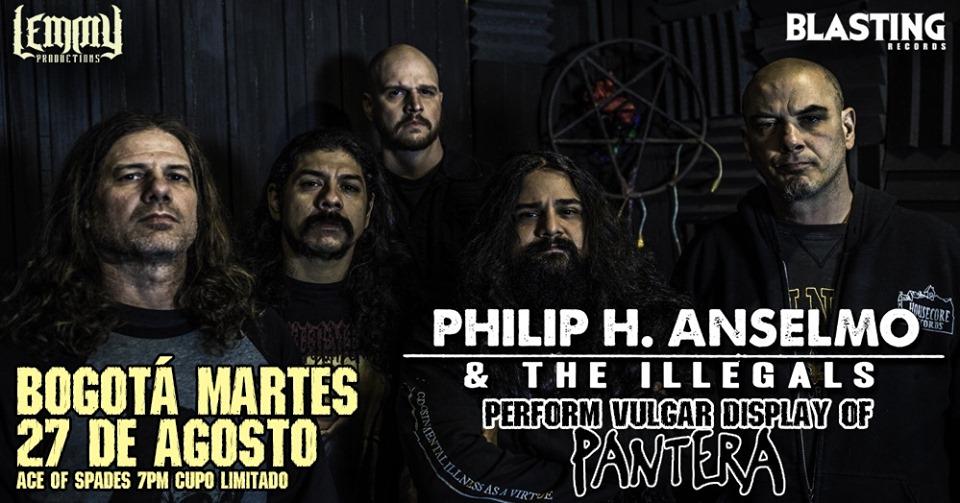 Clásicos de Pantera serán parte del repertorio de Phil Anselmo en Bogotá