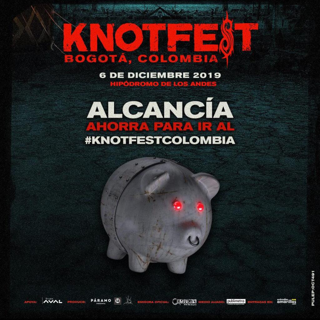 Alcancías Knotfest Colombia – Plan de pagos a cuotas para comprar tus entradas.