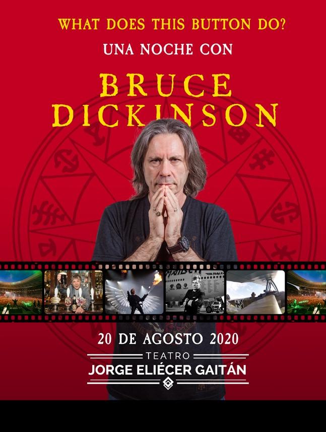 bruce dickinson iron maiden en colombia agosto 20