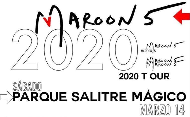maroon 5 en colombia 2020 vitrina rock