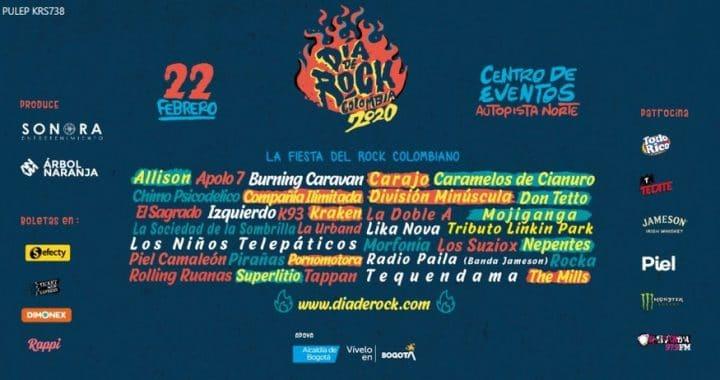 Todo listo para el Festival Día de Rock Colombia el 22 de febrero próximo