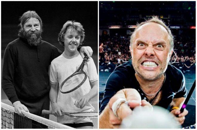 LarsUlrich-tenista antes de baterista vitrina rock