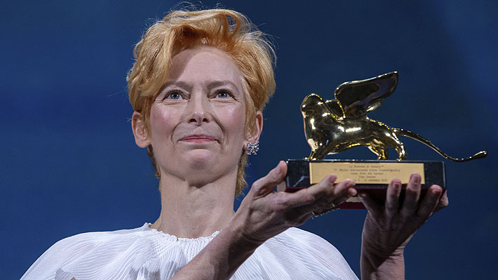Tilda Swinton vitrina rock