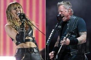 Miley Cyrus grabará disco con versiones de Metallica
