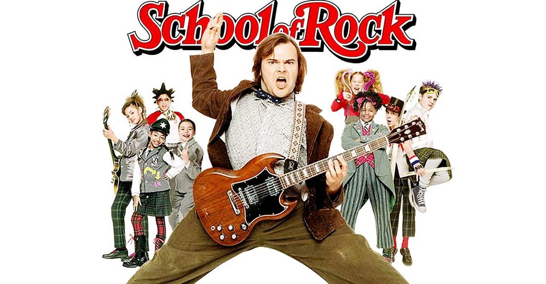 school of rock pelicula vitrina rock