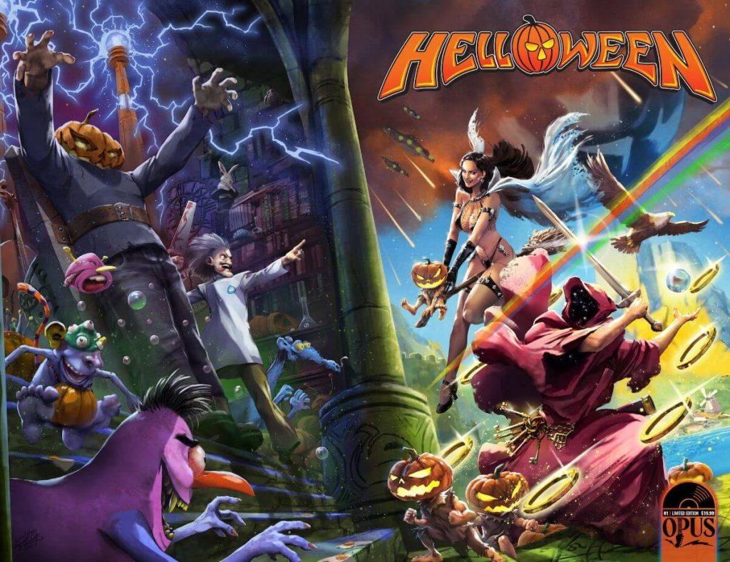 helloween incendium linea de cómics y figuras de acción